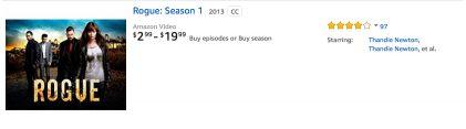 Rogue TV Season 1 on Amazon