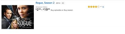 Rogue TV Season 2 on Amazon