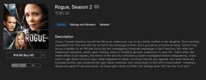 Rogue TV Season 2 on iTunes