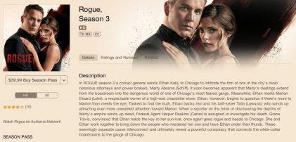 Rogue TV Season 3 on iTunes